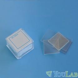 Lamelles couvre objet pour microscopie