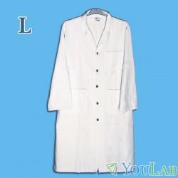 Blouse blanche de laboratoire 100% coton - L